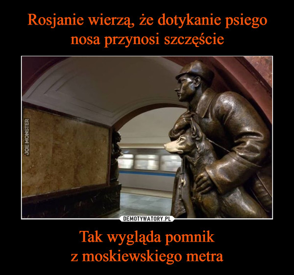 Tak wygląda pomnikz moskiewskiego metra –