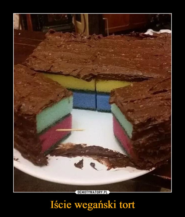 Iście wegański tort –