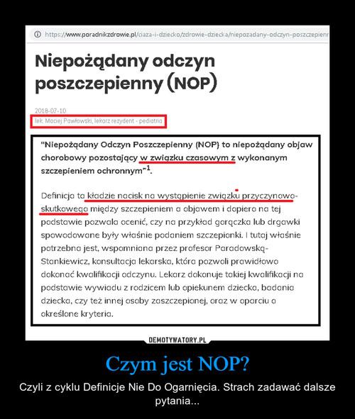 Czym jest NOP?