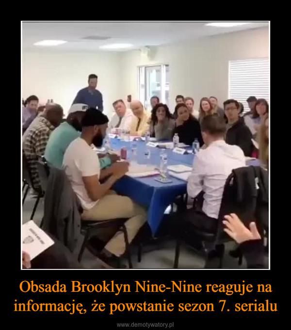 Obsada Brooklyn Nine-Nine reaguje na informację, że powstanie sezon 7. serialu –