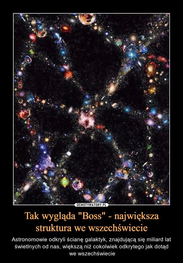 """Tak wygląda """"Boss"""" - największa struktura we wszechświecie – Astronomowie odkryli ścianę galaktyk, znajdującą się miliard lat świetlnych od nas, większą niż cokolwiek odkrytego jak dotąd we wszechświecie"""