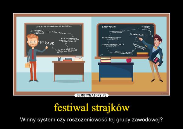 festiwal strajków – Winny system czy roszczeniowość tej grupy zawodowej?
