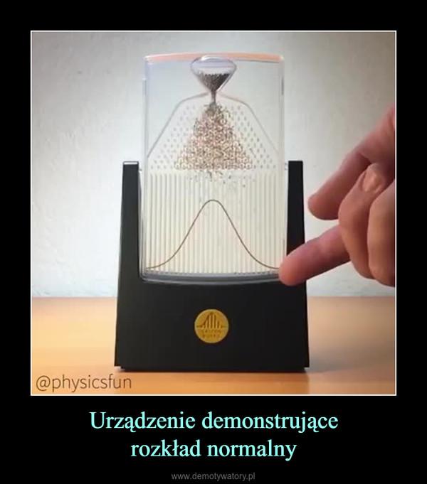 Urządzenie demonstrującerozkład normalny –