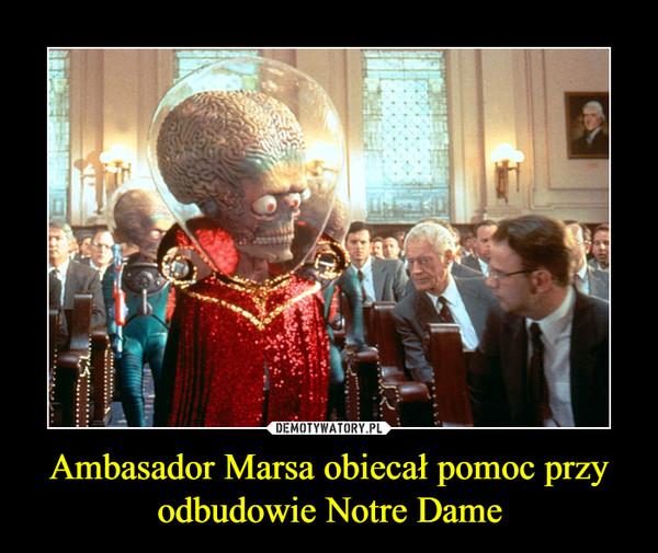 Ambasador Marsa obiecał pomoc przy odbudowie Notre Dame –