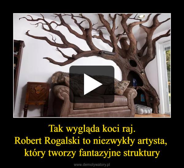 Tak wygląda koci raj.Robert Rogalski to niezwykły artysta, który tworzy fantazyjne struktury –