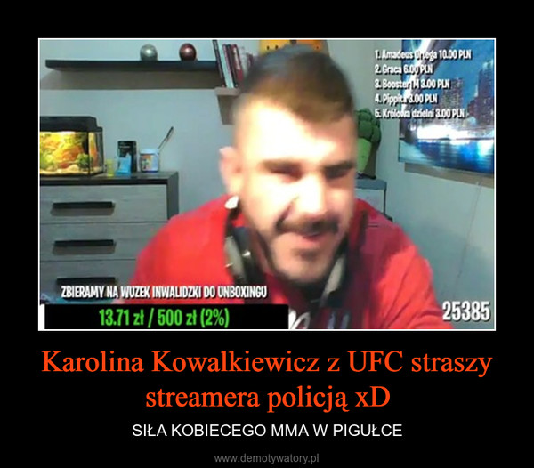 Karolina Kowalkiewicz z UFC straszy streamera policją xD – SIŁA KOBIECEGO MMA W PIGUŁCE