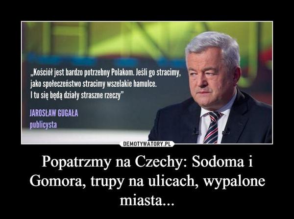 Popatrzmy na Czechy: Sodoma i Gomora, trupy na ulicach, wypalone miasta... –