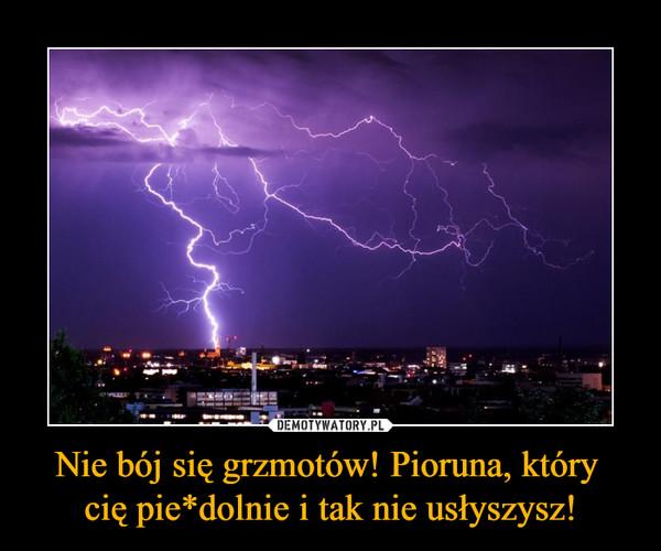 Nie bój się grzmotów! Pioruna, który cię pie*dolnie i tak nie usłyszysz! –