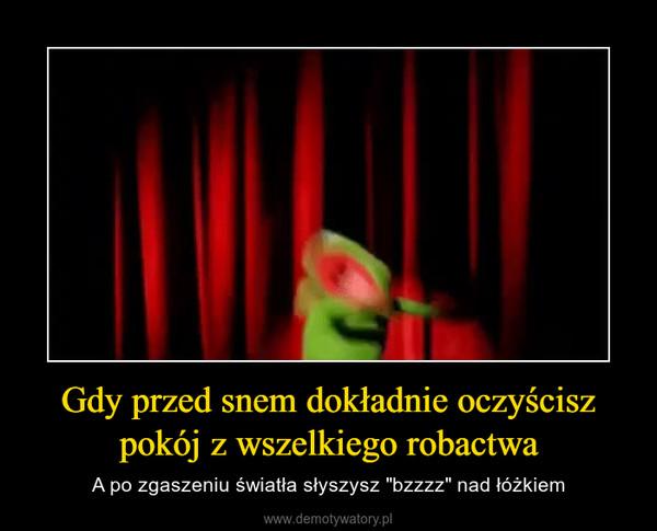 """Gdy przed snem dokładnie oczyścisz pokój z wszelkiego robactwa – A po zgaszeniu światła słyszysz """"bzzzz"""" nad łóżkiem"""