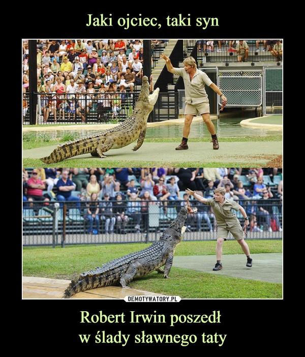 Robert Irwin poszedł w ślady sławnego taty –
