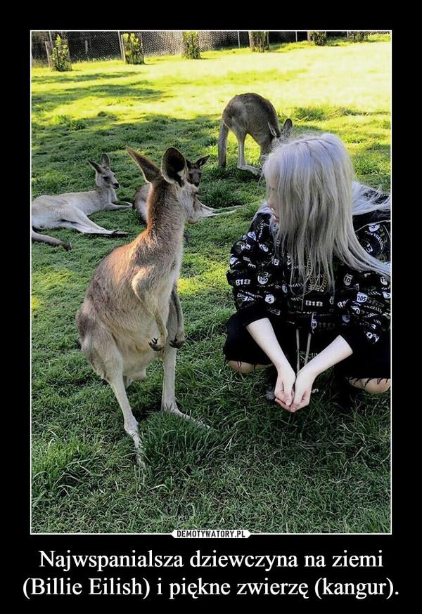Najwspanialsza dziewczyna na ziemi (Billie Eilish) i piękne zwierzę (kangur). –