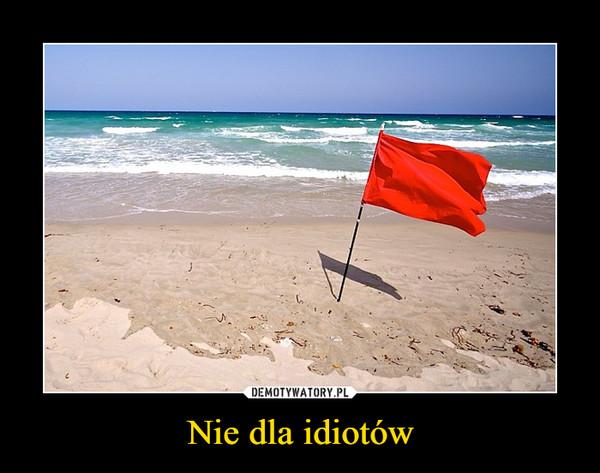 Nie dla idiotów –