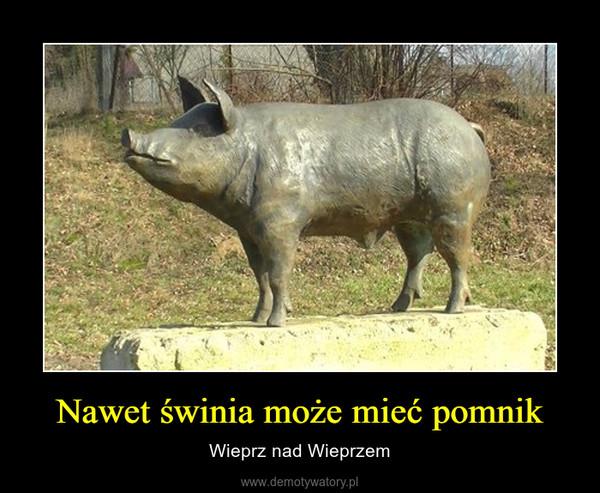 Nawet świnia może mieć pomnik – Wieprz nad Wieprzem