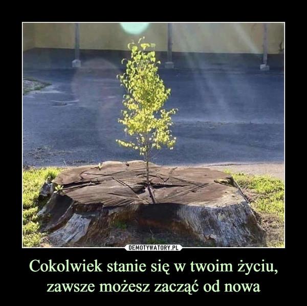 Cokolwiek stanie się w twoim życiu, zawsze możesz zacząć od nowa –
