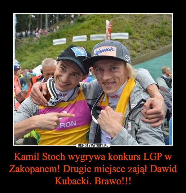 Kamil Stoch wygrywa konkurs LGP w Zakopanem! Drugie miejsce zajął Dawid Kubacki. Brawo!!! –