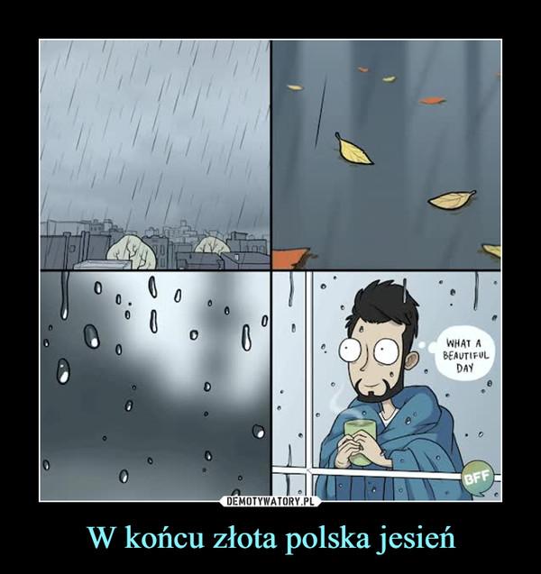 W końcu złota polska jesień –