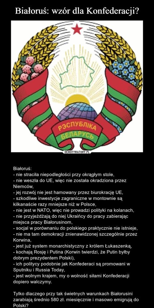 Białoruś: wzór dla Konfederacji?