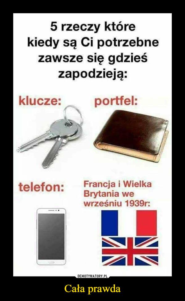 Cała prawda –  5 rzeczy które kiedy są ci potrzebne zawsze się gdzieś zapodzieją klucze portfel telefon Francja i Wielka Brytania we wrześniu 1939r