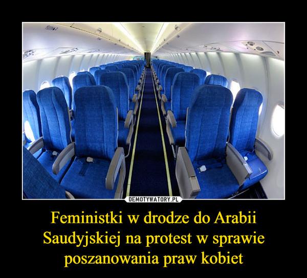 Feministki w drodze do Arabii Saudyjskiej na protest w sprawie poszanowania praw kobiet –