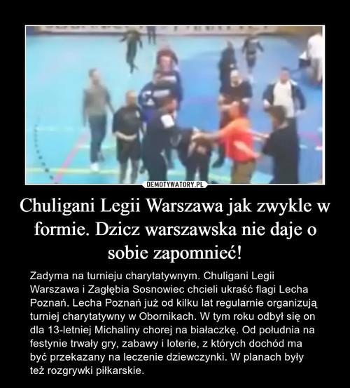 Chuligani Legii Warszawa jak zwykle w formie. Dzicz warszawska nie daje o sobie zapomnieć!