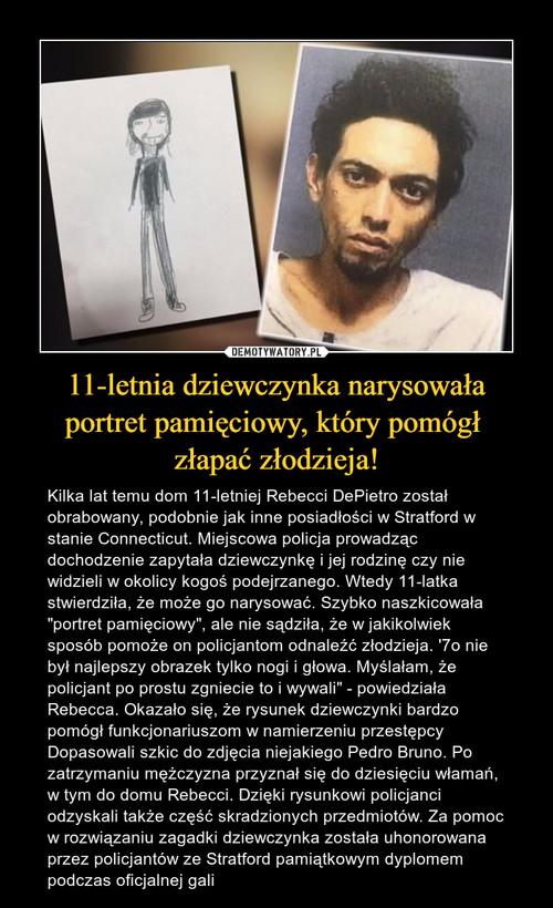 11-letnia dziewczynka narysowała portret pamięciowy, który pomógł  złapać złodzieja!