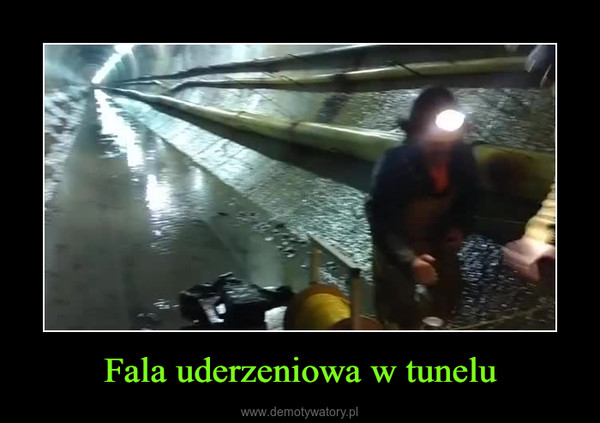 Fala uderzeniowa w tunelu –