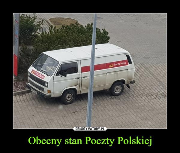 Obecny stan Poczty Polskiej –