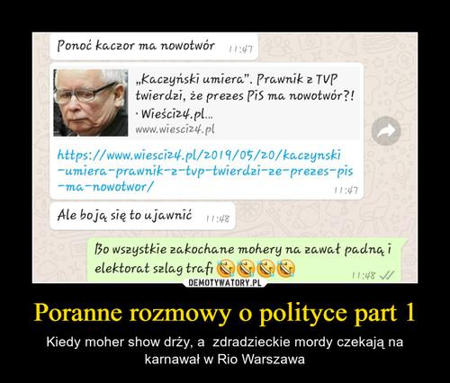 Poranne rozmowy o polityce part 1