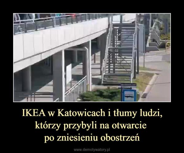 IKEA w Katowicach i tłumy ludzi, którzy przybyli na otwarcie po zniesieniu obostrzeń –