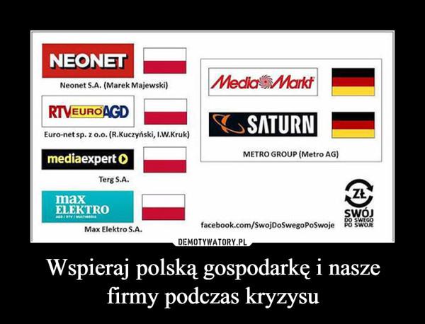 Wspieraj polską gospodarkę i nasze firmy podczas kryzysu –