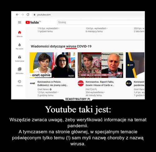 Youtube taki jest: