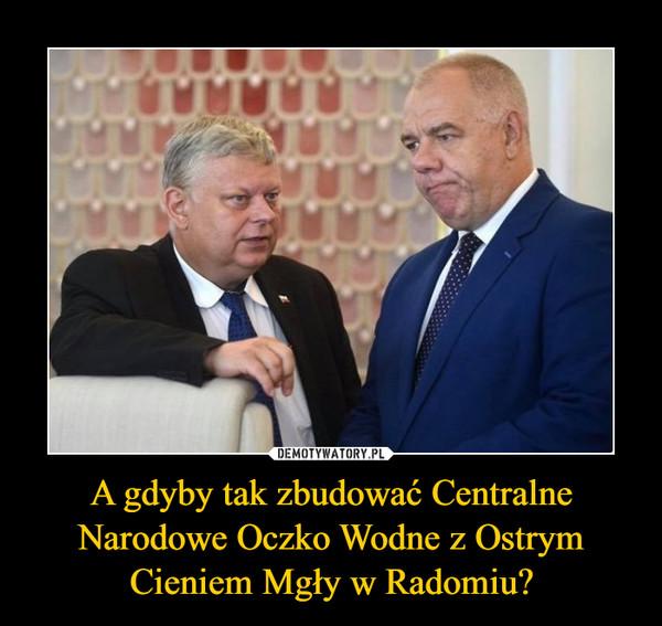 A gdyby tak zbudować Centralne Narodowe Oczko Wodne z Ostrym Cieniem Mgły w Radomiu? –