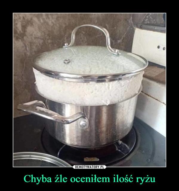 Chyba źle oceniłem ilość ryżu –