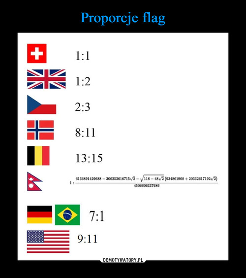 Proporcje flag