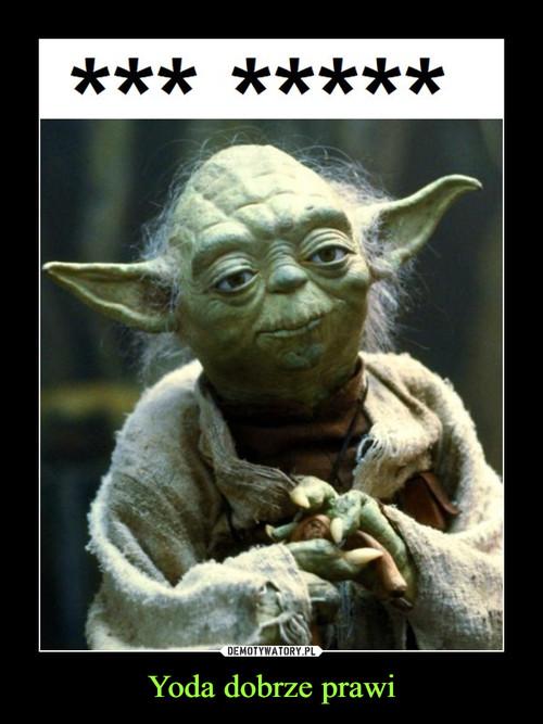 Yoda dobrze prawi