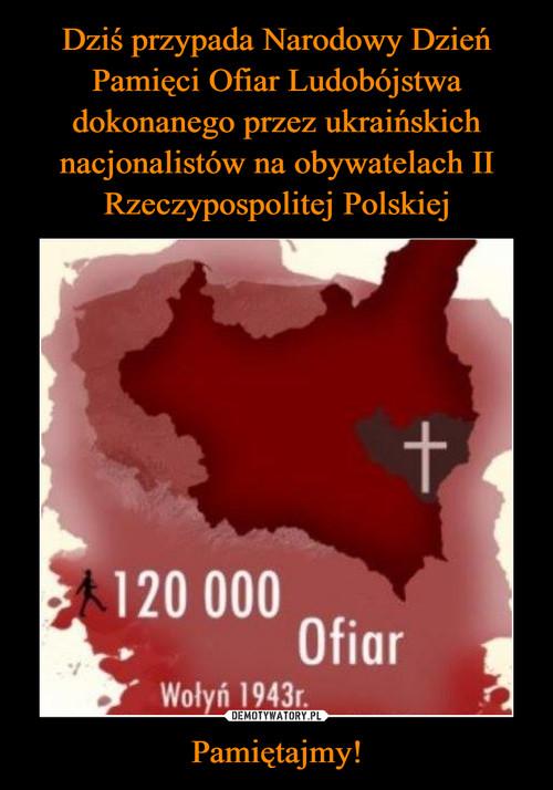 Dziś przypada Narodowy Dzień Pamięci Ofiar Ludobójstwa dokonanego przez ukraińskich nacjonalistów na obywatelach II Rzeczypospolitej Polskiej Pamiętajmy!