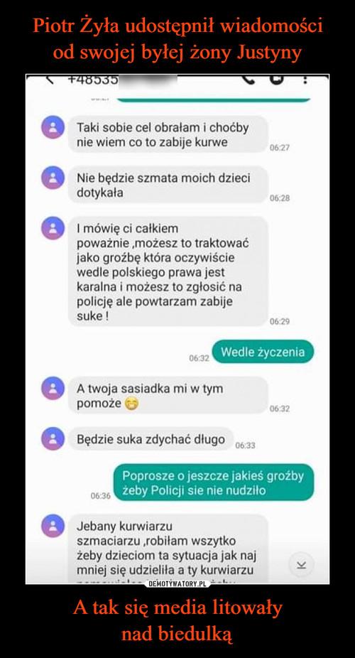 Piotr Żyła udostępnił wiadomości od swojej byłej żony Justyny A tak się media litowały nad biedulką