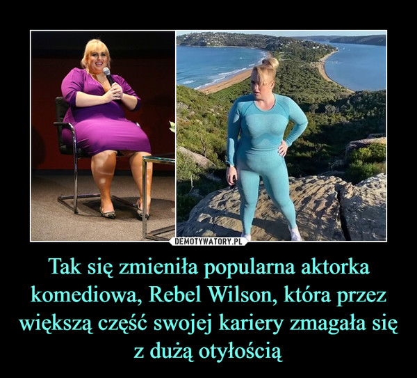 Tak się zmieniła popularna aktorka komediowa, Rebel Wilson, która przez większą część swojej kariery zmagała się z dużą otyłością –