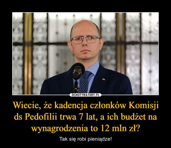 Wiecie, że kadencja członków Komisji ds Pedofilii trwa 7 lat, a ich budżet na wynagrodzenia to 12 mln zł? – Tak się robi pieniądze!
