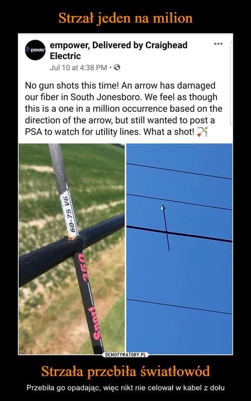 Strzał jeden na milion Strzała przebiła światłowód