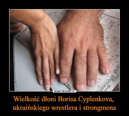 Wielkość dłoni Borisa Cyplenkova,  ukraińskiego wrestlera i strongmena
