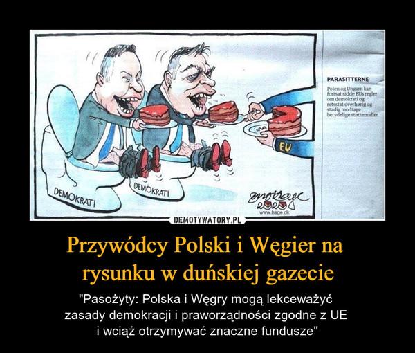 """Przywódcy Polski i Węgier na rysunku w duńskiej gazecie – """"Pasożyty: Polska i Węgry mogą lekceważyć zasady demokracji i praworządności zgodne z UE i wciąż otrzymywać znaczne fundusze"""""""