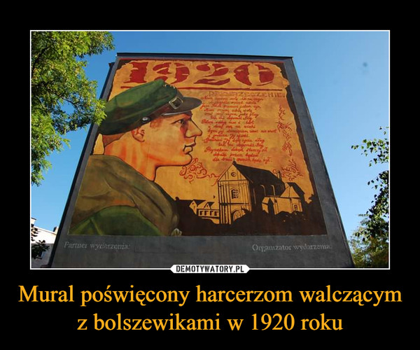 Mural poświęcony harcerzom walczącym z bolszewikami w 1920 roku –