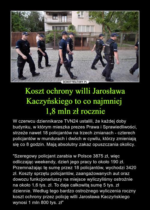 Koszt ochrony willi Jarosława Kaczyńskiego to co najmniej  1,8 mln zł rocznie