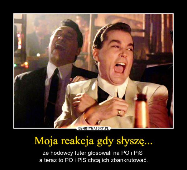 Moja reakcja gdy słyszę... – że hodowcy futer głosowali na PO i PiS a teraz to PO i PiS chcą ich zbankrutować.