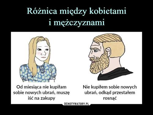 Różnica między kobietami i mężczyznami