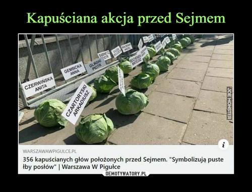 Kapuściana akcja przed Sejmem