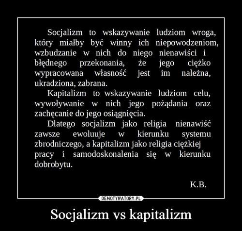 Socjalizm vs kapitalizm
