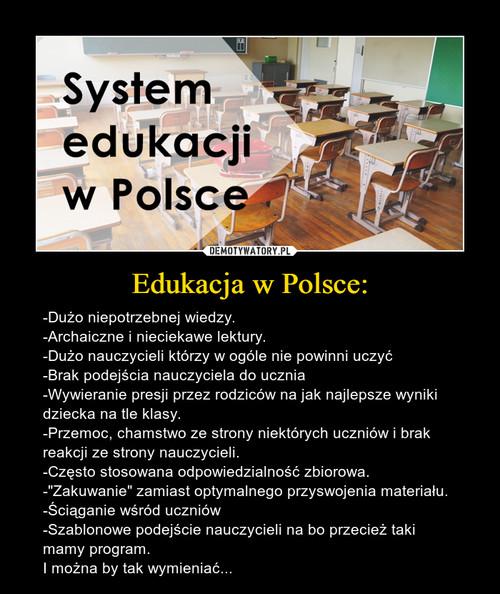 Edukacja w Polsce: