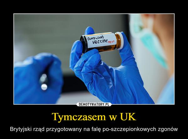 Tymczasem w UK – Brytyjski rząd przygotowany na falę po-szczepionkowych zgonów
